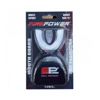 Капа боксерская  Firepower Polaris Gel черная с белым