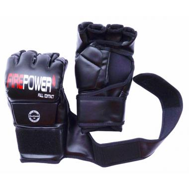ПЕРЧАТКИ ММА FIREPOWER FPMGA2 BLACK (8oz)
