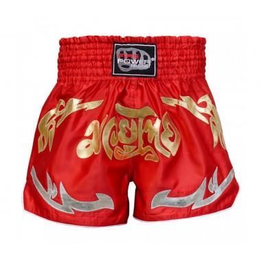 Шорты для тайского бокса FirePower ST-19 красные
