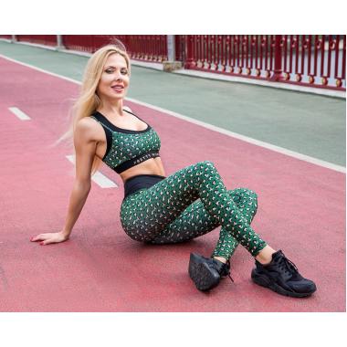 Лосины GoFit Leopard Green