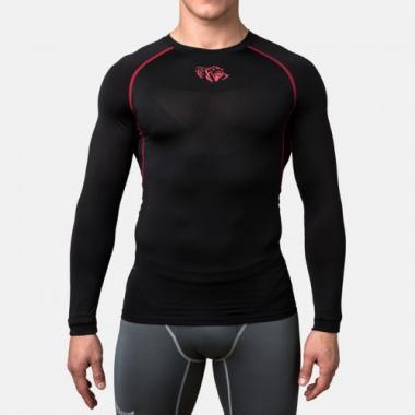 Компрессионная футболка Peresvit Air Motion Compression Long Sleeve T-Shirt Black Red
