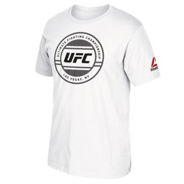 Футболка Reebok White UFC International Fight Week Circle Logo T-Shirt