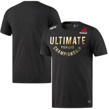 Футболка Reebok Black/Gold UFC Franchise Walkout Jersey