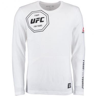 Лонгслив Reebok White UFC Fight For Yours Long Sleeve Tri-Blend T-Shirt