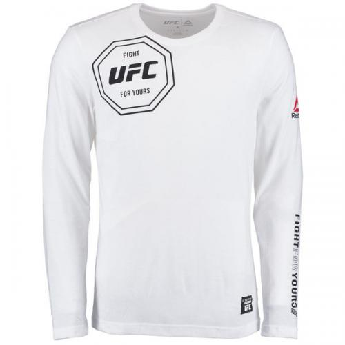 Лонгслив Reebok White UFC Fight For Yours Long Sleeve Tri-Blend T-Shirt