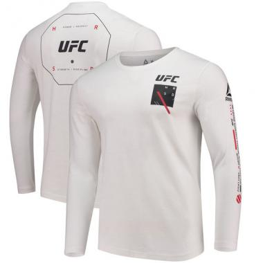 Лонгслив Reebok White UFC Long Sleeve T-Shirt