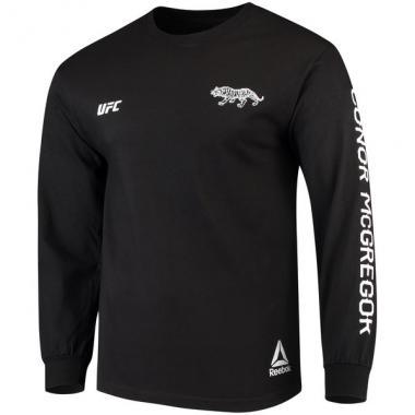 Свитшот Reebok Conor McGregor Black UFC Notorious Tiger Long Sleeve T-Shirt