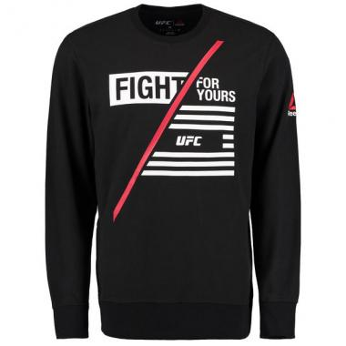 Свитшот Reebok black UFC UFAN Thermal long sleeve t-shirt