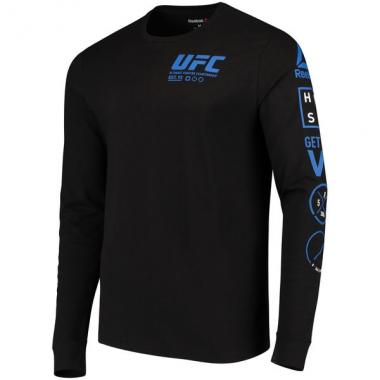 Лонгслив Reebok Black UFC Fan Gear Long Sleeve T-Shirt