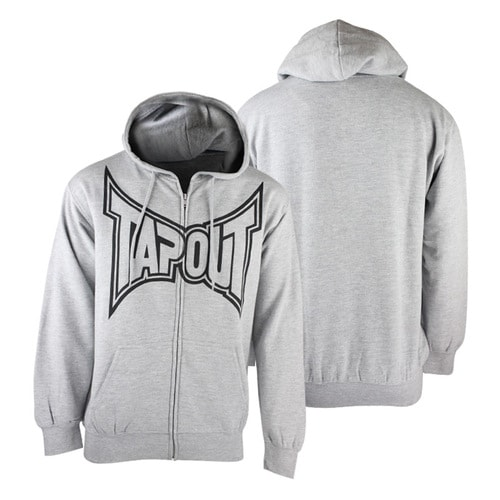 Толстовка Tapout Hoodie classic zip out grey/black