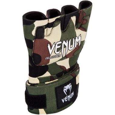 Накладки гелевые бинты Venum Gel Kontact Glove Wraps Forest Camo