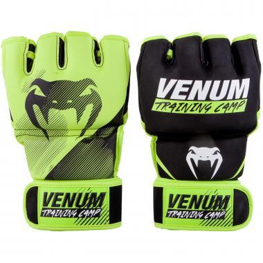 Перчатки MMA Venum Training Camp 2.0 MMA Gloves Black Neo Yellow