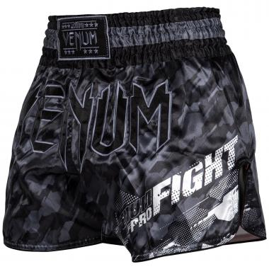 Шорты для тайского бокса Venum Tecmo Muay Thai Shorts Dark Grey