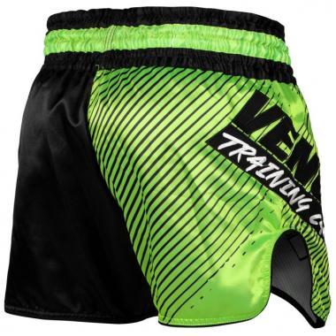 Шорты для тайского бокса Venum Training Camp 2.0 Muay Thai Shorts Black Neo Yellow