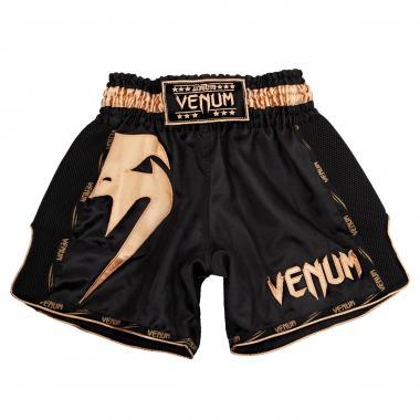 Шорты для тайского Venum Giant Muay Thai Shorts Black Gold