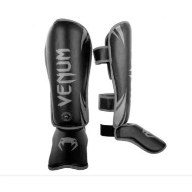 Защита голени и голеностопа Venum Challenger Standup Shinguards Black Grey