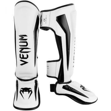 Защита голени Venum Elite Standup Shinguards White Black