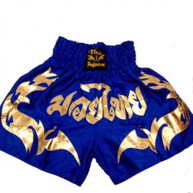 Шорты для Тайского бокса Thai Professional S16 Blue-Gold