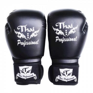 Перчатки боксерские Thai Professional BG3 black